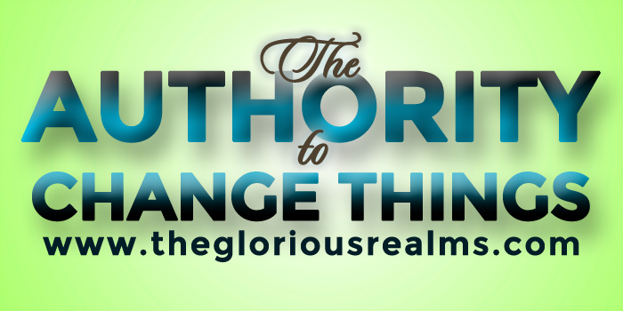 The Authority To Change Things
